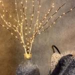 Zweige mit LED Beleuchtung 3 Stück Set Warmweiß Dekozweige mit Schnee