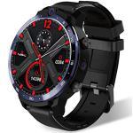 ZYD LEM12 Smart Watch Männer 4G 3GB + 32GB GPS 1.6 Zoll-Display mit Bank-Kraft WiFi Kamera Musik Smart Watch 1800mAh Akku,Schwarz