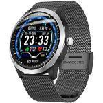 ZYD N58 Smart Watch Männer PPG EKG HRV Herzfrequenz-Blutdruck-Test IP67 Unterstützung Zählschritt Kalorien Sleep Time Smartwatch Frauen,A