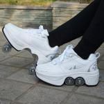 Weiße Skater Jungenschuhe mit Knopf in Normalweite Atmungsaktiv für Partys für den Sommer